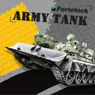 Las baldosas de Fortelock no sufren daños incluso si las atropella un tanque  Literalmente!